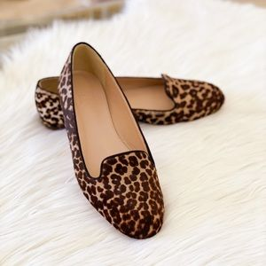 J Crew Collection leopard print loafers